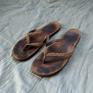 Rainbow Tan Braided Sandals Size 8-9